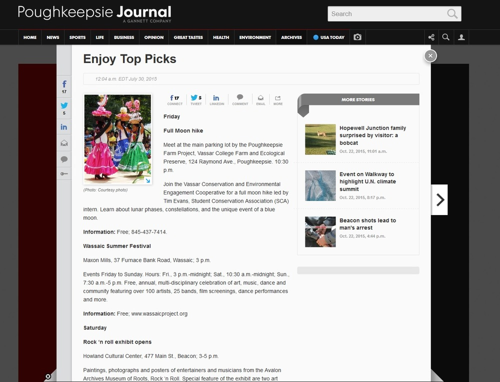 Poughkeepsie Journal-Enjoy Top Picks