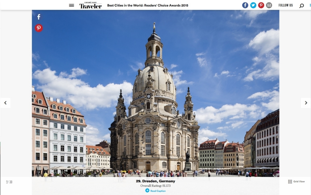 CONDÉ NAST TRAVELER-Best Cities in the World: Readers' Choice Awards 2015