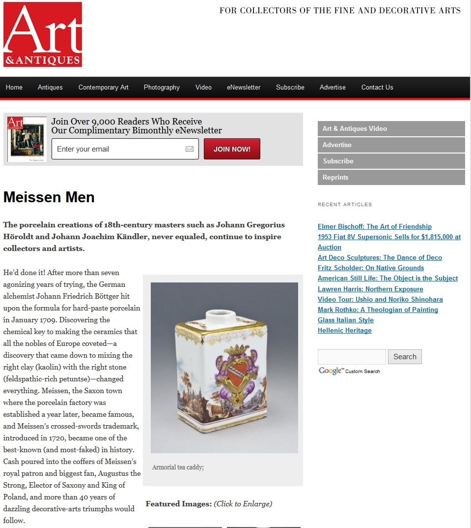 Art and Antiques-Meissen Men