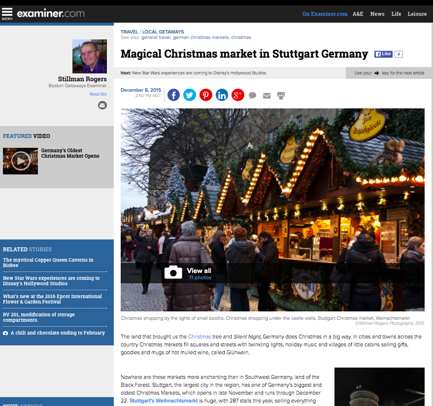 The Examiner - Magical Christmas market in Stuttgart Germany