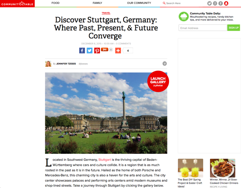 Community Table -Discover Stuttgart, Germany: Where Past, Present, & Future Converge