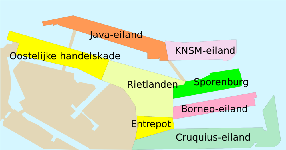 Eastern Docklands neighbourhood map (© commons.wikimedia.org)