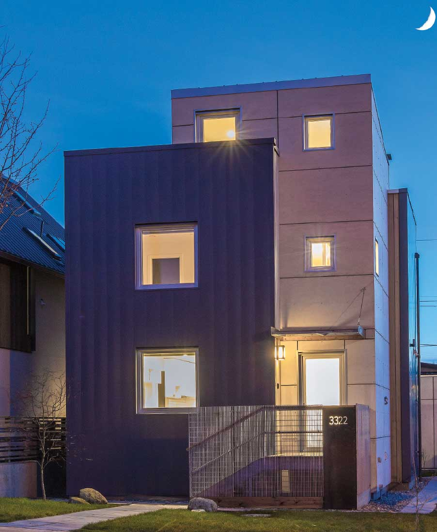 Vancouver's first 'Passive House' - an ultra-low-energy consuming home. Photo by Lucio Picciano via sabmagazine.com