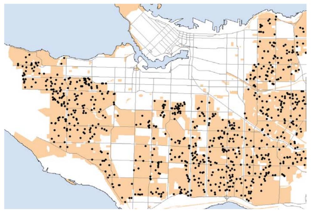 Vancouver lane house permits 2009-2013.