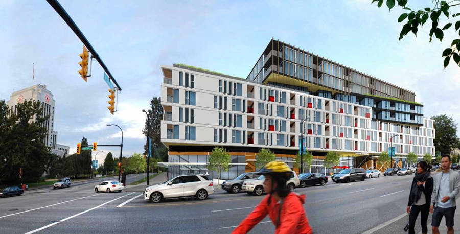 'Whole block' redevelopment via re-zoning. Cambie and 12th. Image: CoV Rezoning Centre.