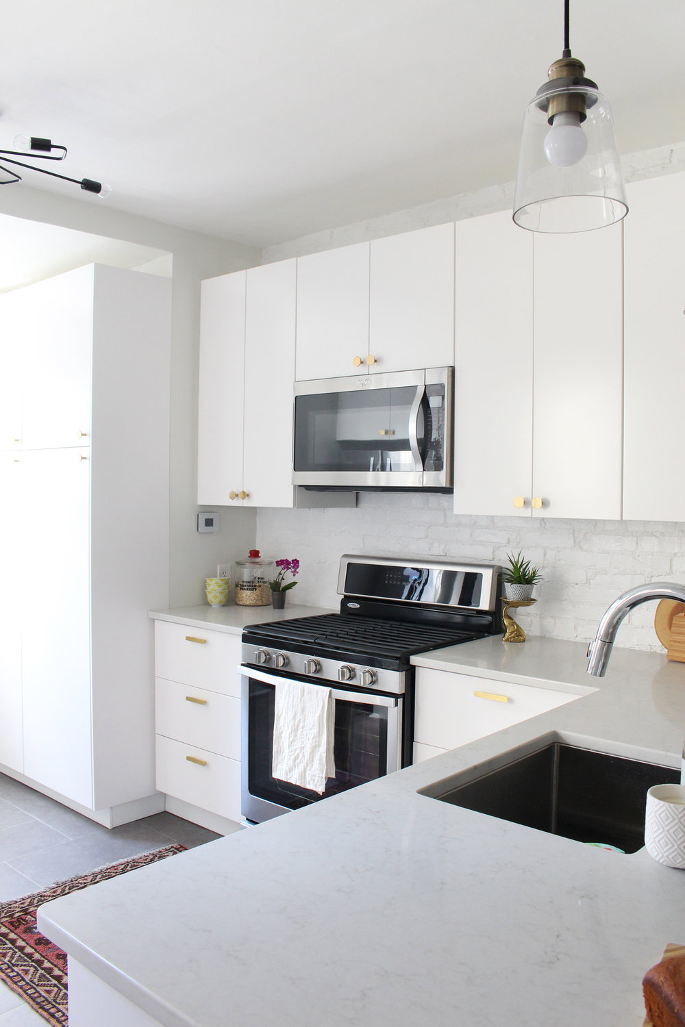Modern White Kitchens Ikea before & after: our kitchen renovation — mix & match design company
