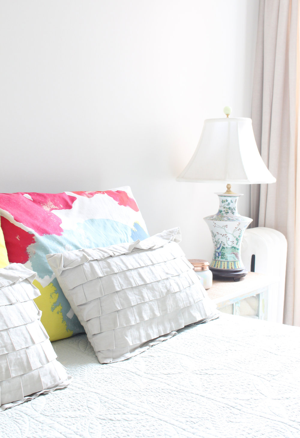 a bright and cozy, traditional meets modern guest room