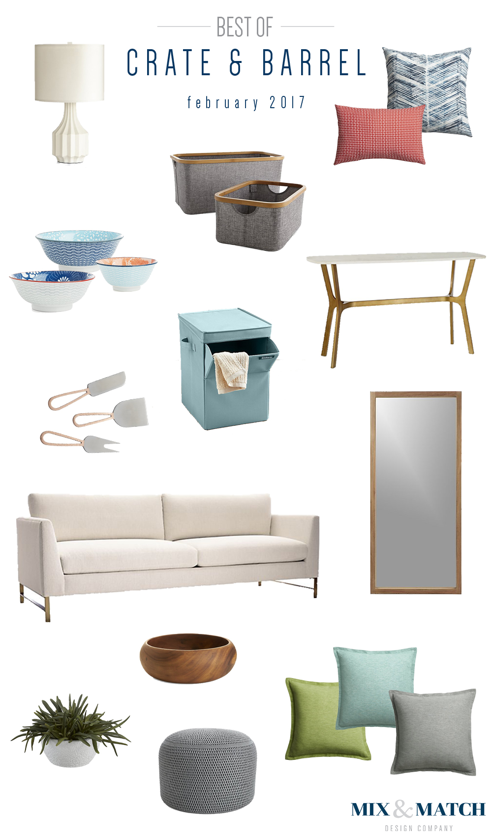 Mix & Match Design Company's favorite picks from Crate & Barrel.