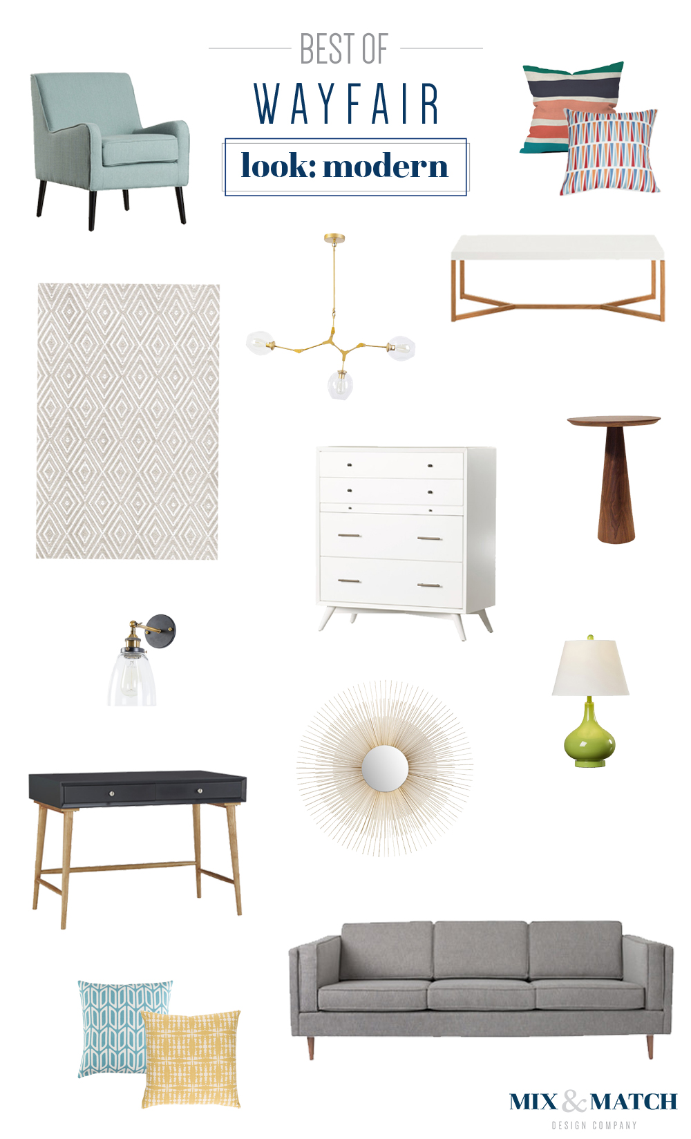 The best picks from Wayfair's modern furniture and home decor collection