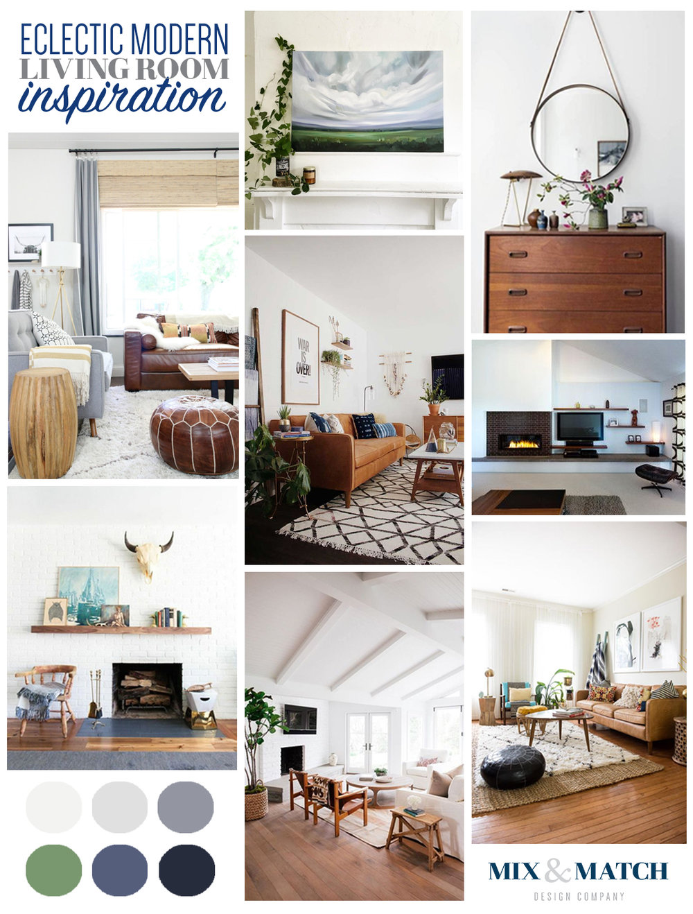 Eclectic Modern Living Room Inspiration Board