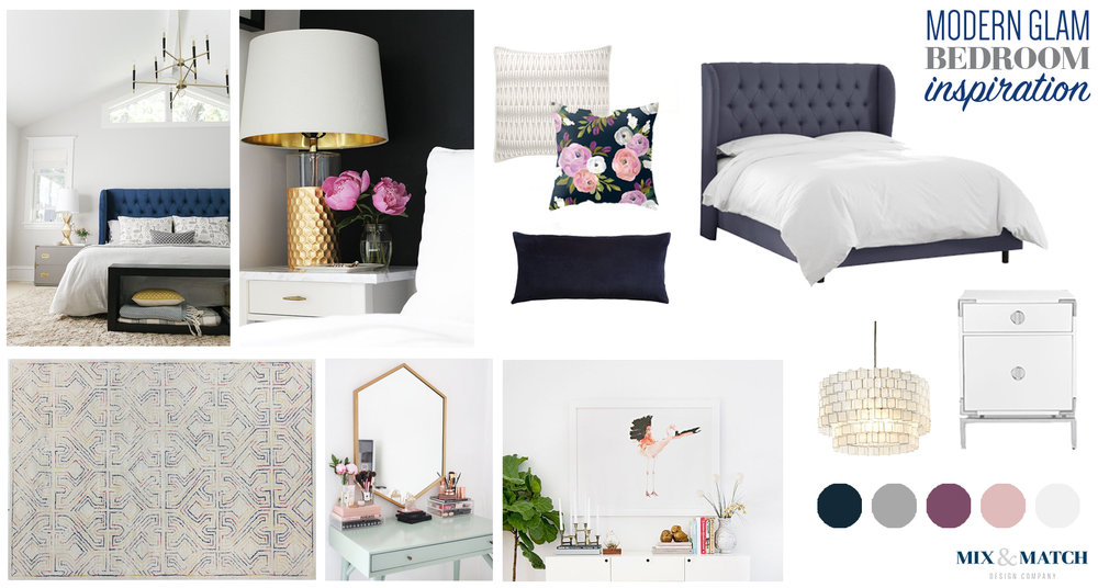 Modern glam bedroom inspiration