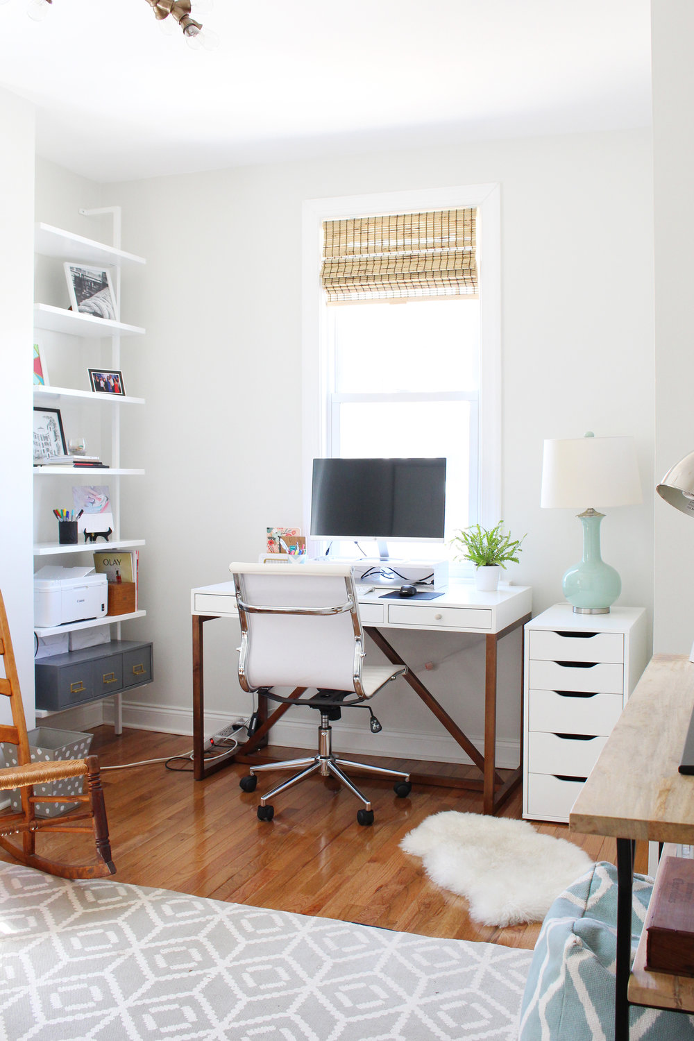 One Room Challenge: Mix & Match Design Company's home office. Photo of workspace progress.