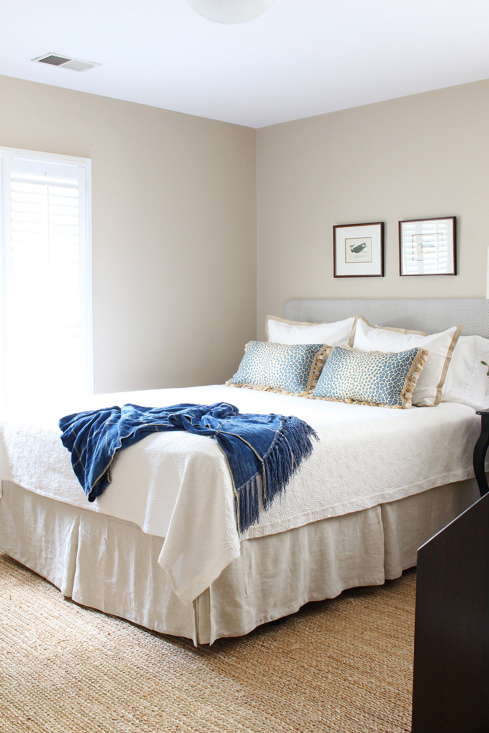 A traditional guest room gets a refreshing makeover on a small budget.