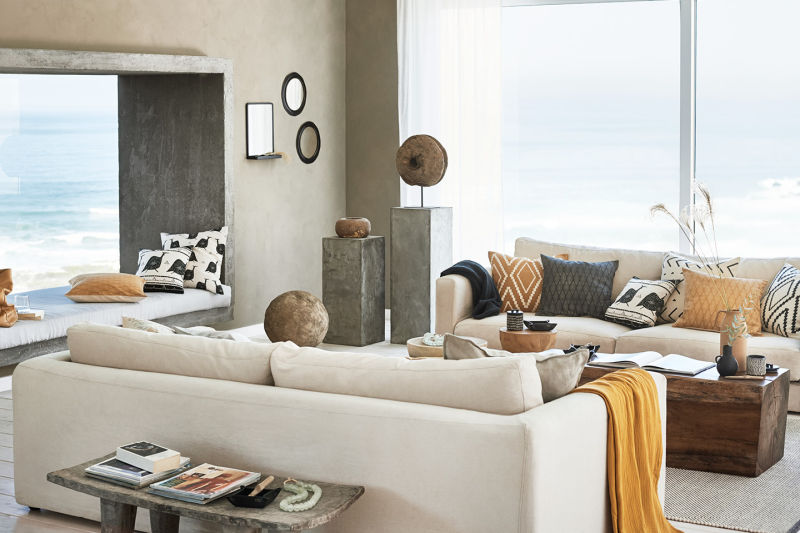 What to buy at H&M Home right now. // neutral living room, living room, yellow and beige living room