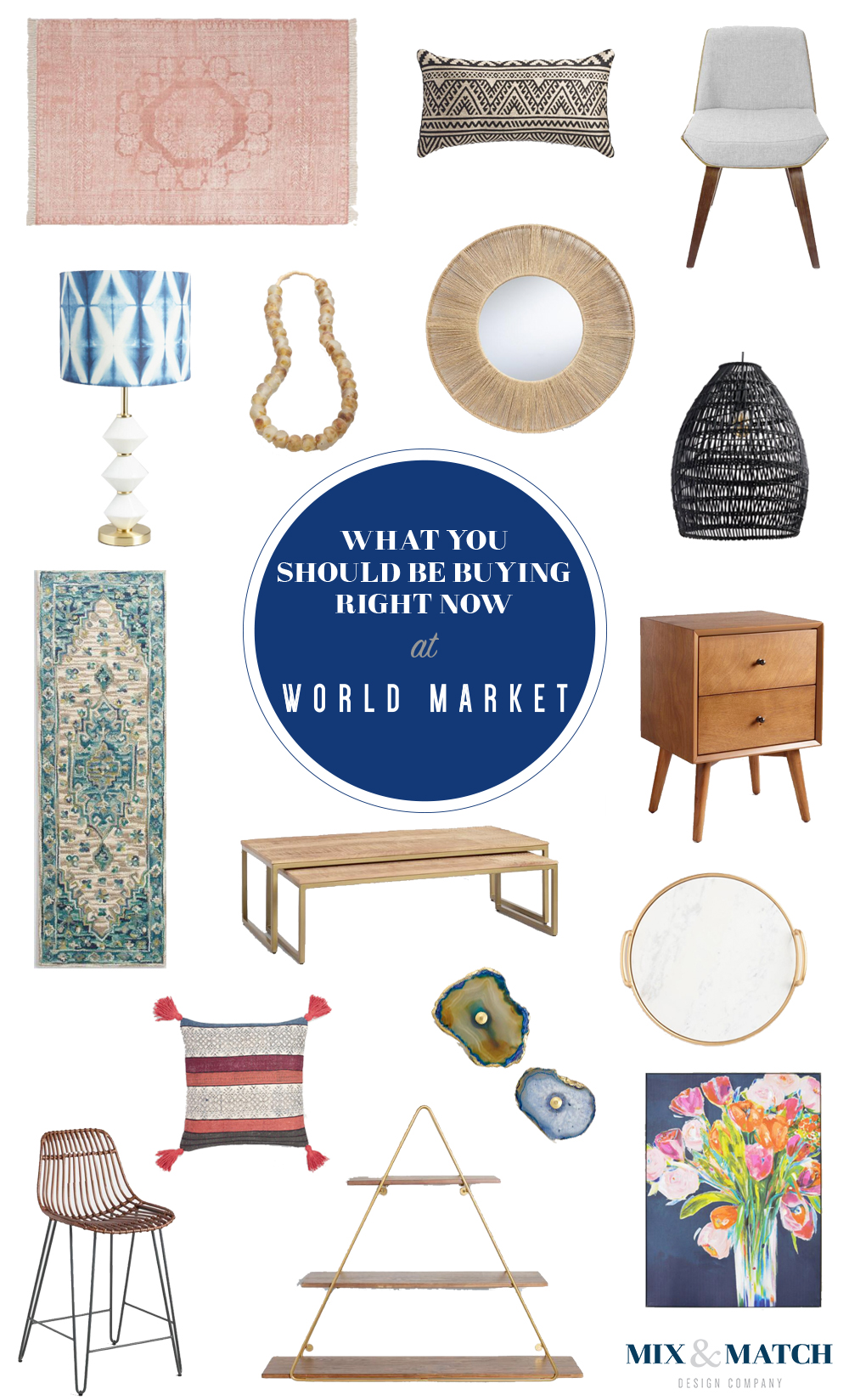 What to shop for at World Market. Find modern, farmhouse, and industrial furniture and decor that won't break the bank! Head to the blog to shop these pieces. // affordable farmhouse furniture, affordable modern furniture, budget-friendly furniture