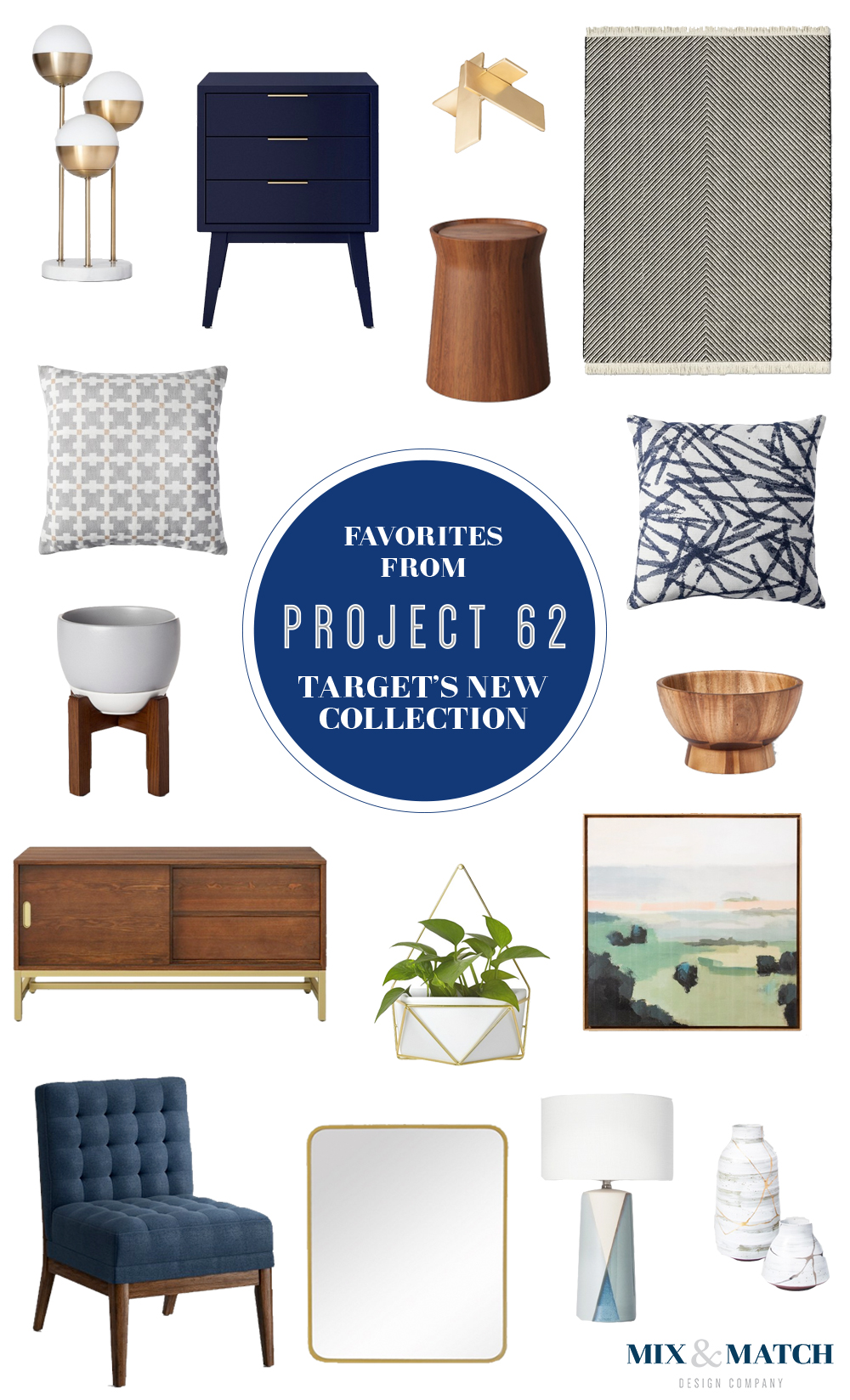 My favorites from Target's new Project 62 collection. // affordable mid-century modern furniture, mid-century modern furniture for less, mid-century modern furniture target