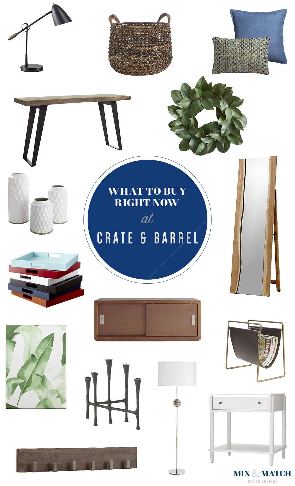 A designer's picks for what to shop for right now at Crate & Barrel! // Crate & Barrel furniture, Crate & Barrel home decor, Crate & Barrel inspiration