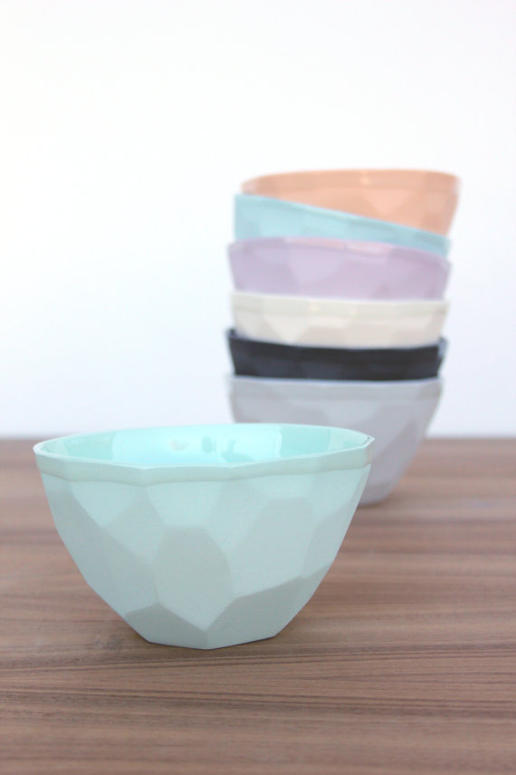 Shop small for Small Business Saturday! This post has a roundup of some of the best Etsy shops for home and decor. (Ceramic ice cream bowls from Bean & Bailey)