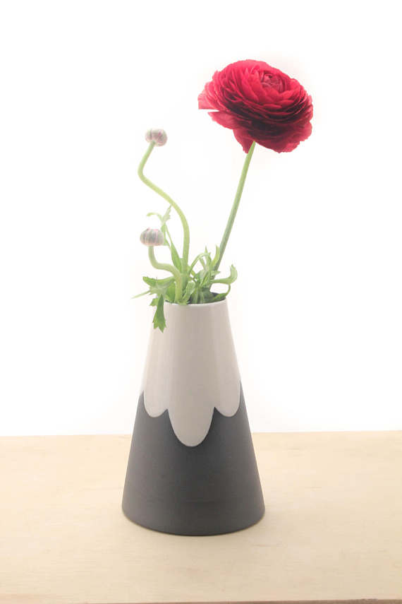 Shop small for Small Business Saturday! This post has a roundup of some of the best Etsy shops for home and decor. (Ceramic cone mountain vases from Bean & Bailey)