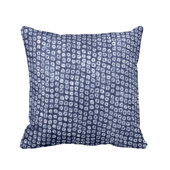 Shop small for Small Business Saturday! This post has a roundup of some of the best Etsy shops for home and decor. (Indigo Batik throw pillow from Pattern Behavior)