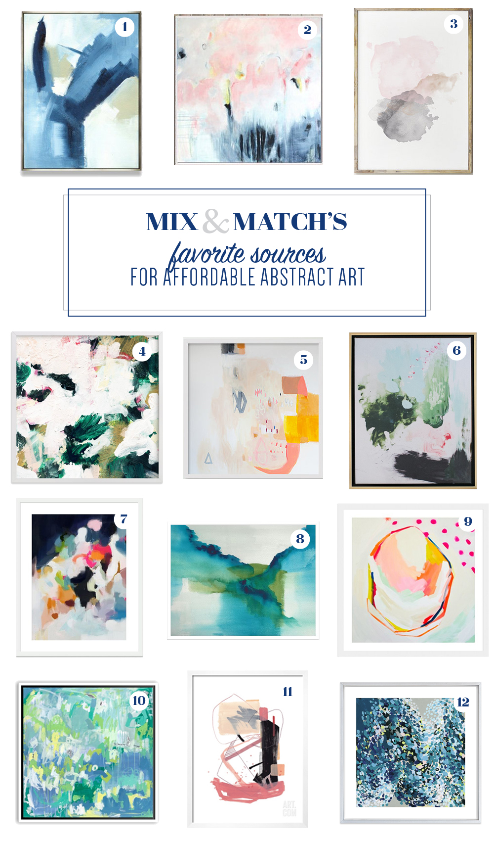Favorite sources for affordable abstract art