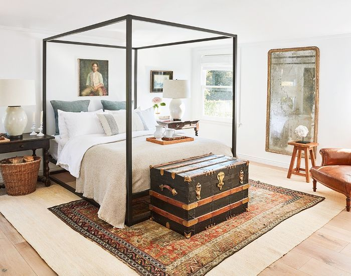 Can you use mismatched nightstands in a bedroom? Absolutely! This traditional bedroom with antique tables used as nightstands is a great example. Come find out how you can do it in your own home!