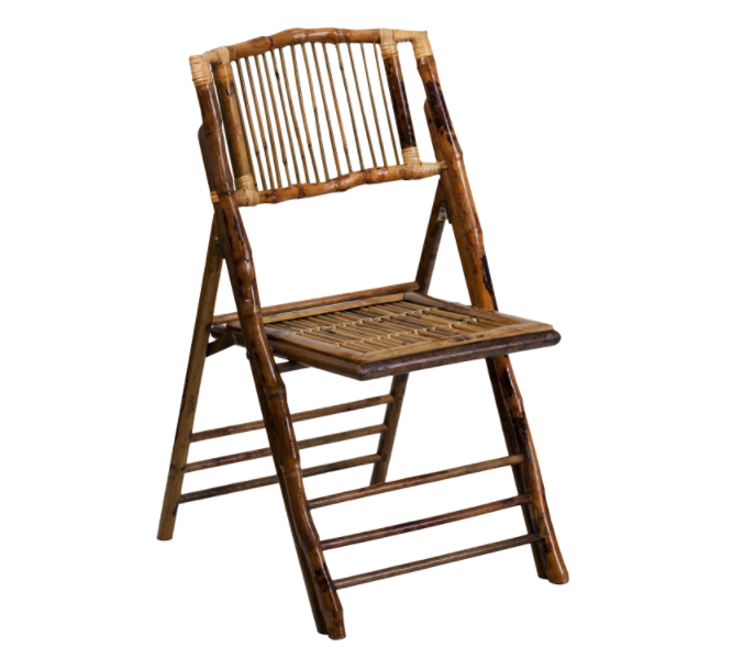 Beautiful bamboo folding dining chairs save space and look great when they're in use!