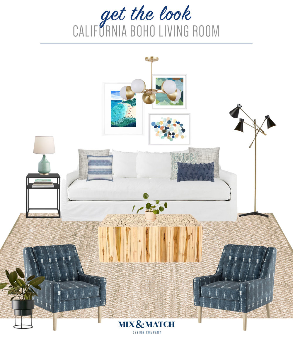 Get The Look Of This California Boho Living Room Over On The Mix U0026amp; Match