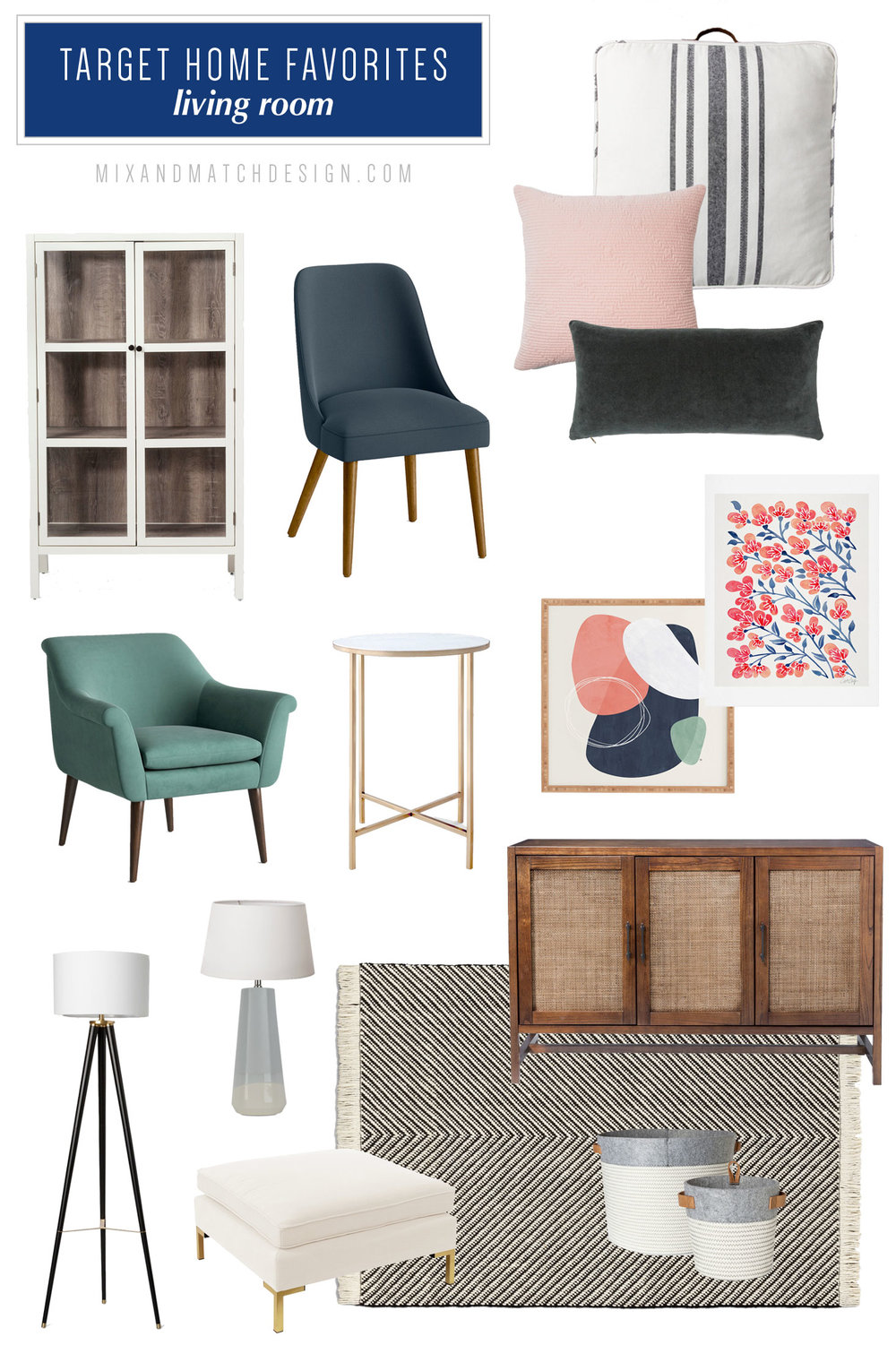 A roundup of the furniture and decor that caught my eye recently at Target. If you're looking for recommendations for affordable items for your living room, be sure to check out this blog post with finds from Target brands Threshold, Project62, and Opalhouse.