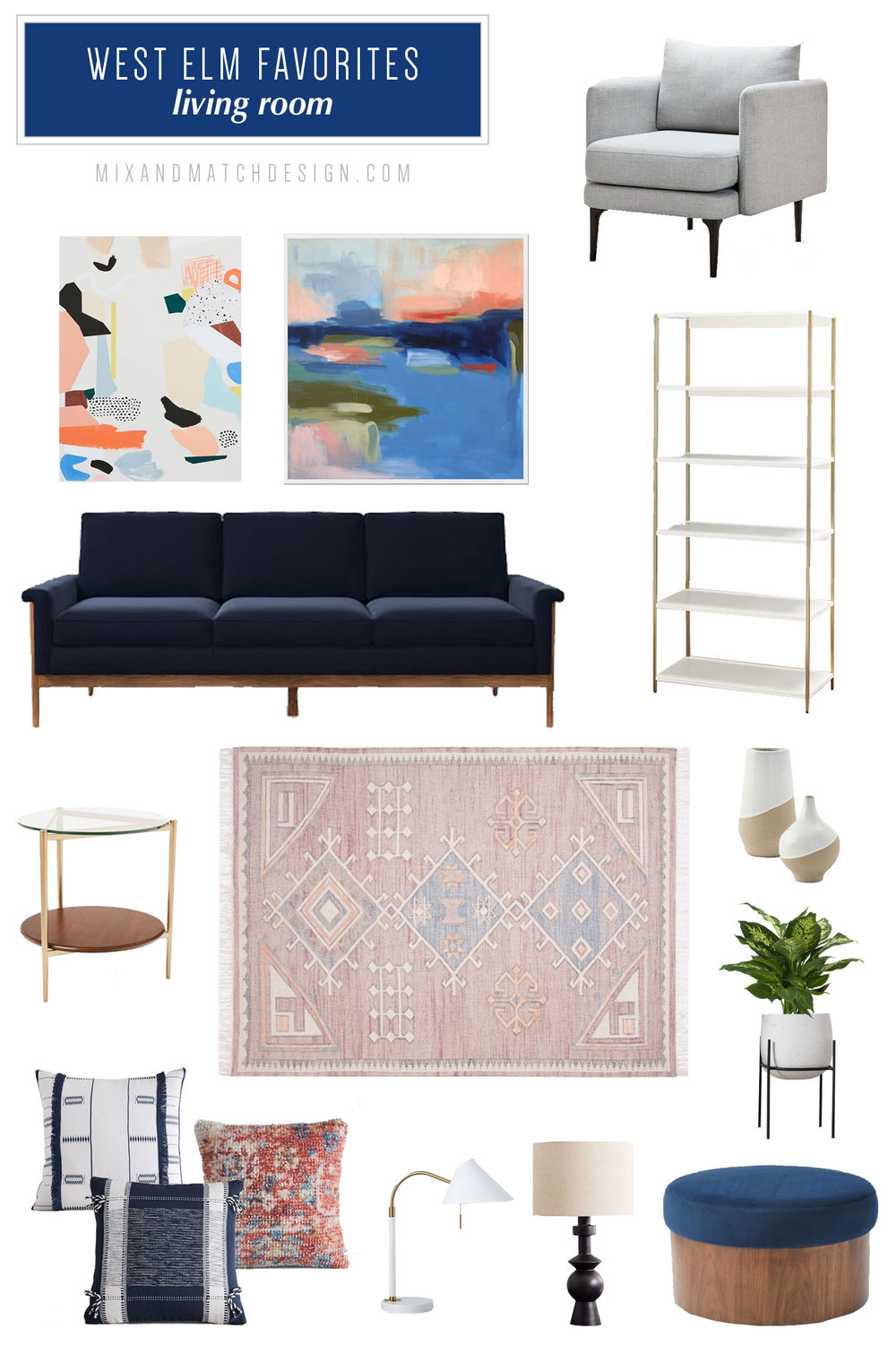 A roundup of the furniture and decor that caught my eye recently at West Elm. If you're looking for recommendations for mid-century modern, industrial, and boho items for your living room, be sure to check out this blog post with tons of ideas for decorating your home.