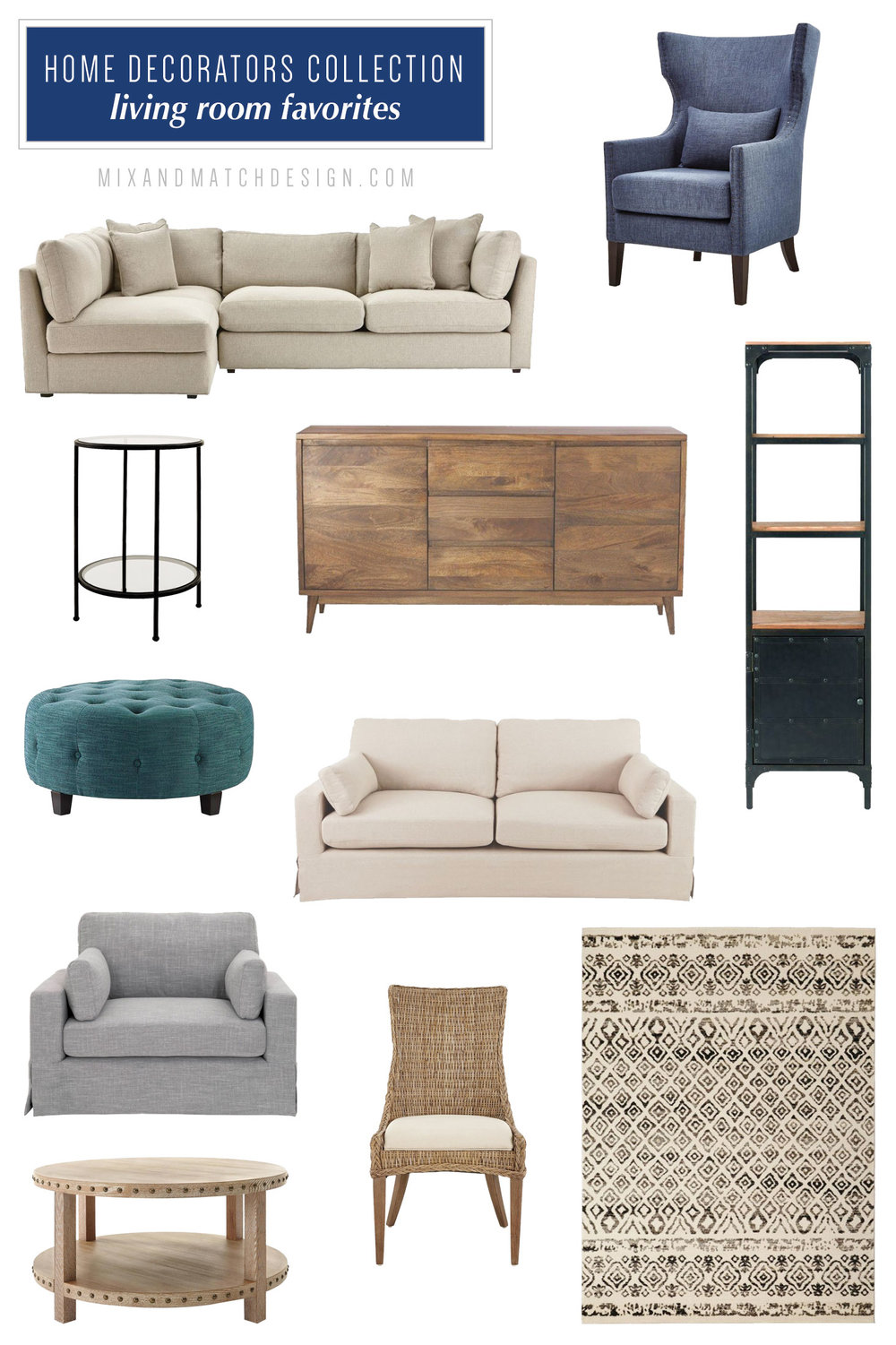 Did you know that the Home Depot carries furniture? They've got their own brand - Home Decorators Collection - and I've rounded up my favorites for your living room and bedroom from that collection that fall into the modern farmhouse style. Grab the sources and read more on the blog!
