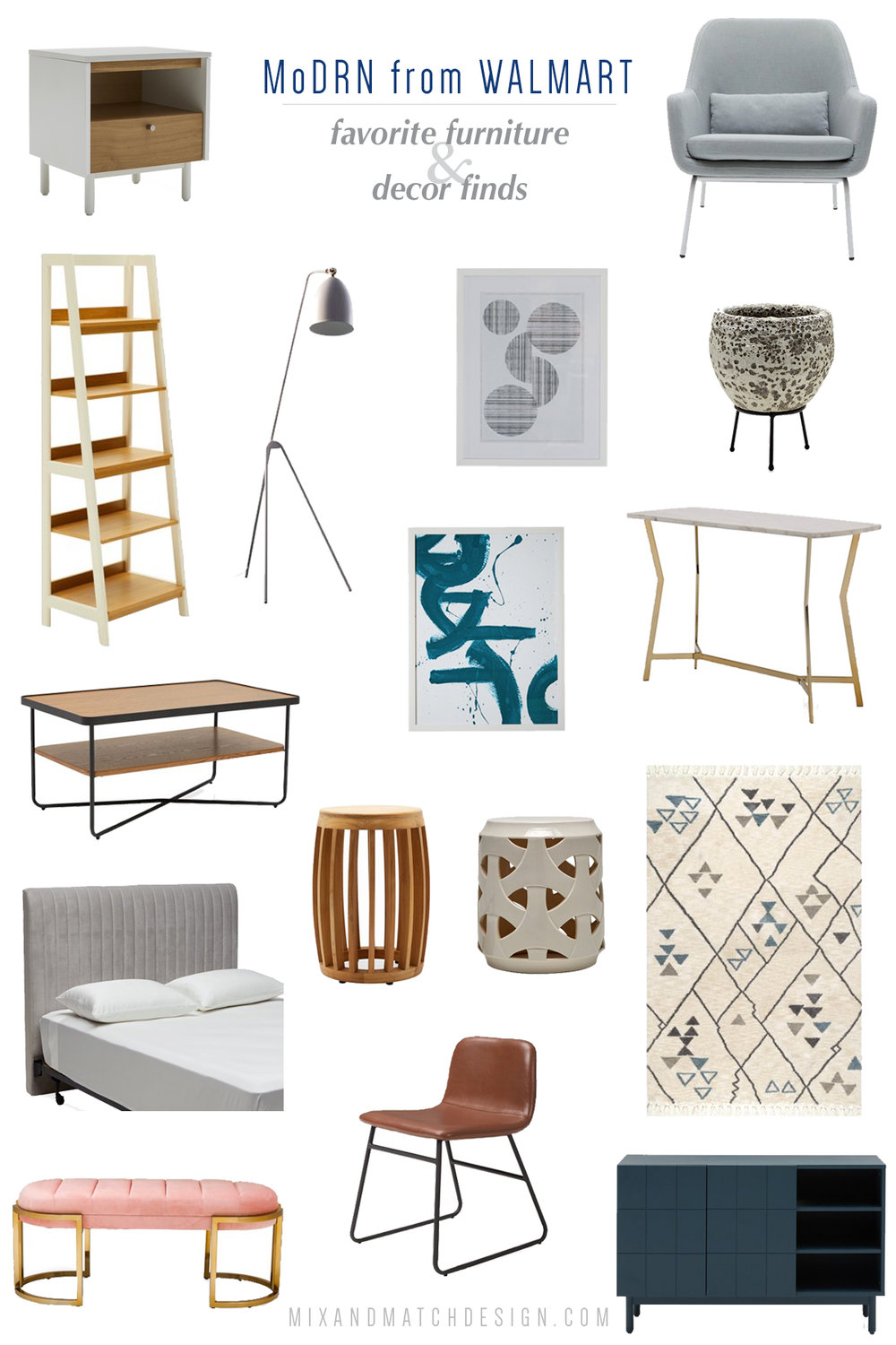Have you seen the new MoDRN collection from Walmart? They've got a great selection of affordable modern furniture and home decor. If you love Scandinavian or mid-century style, you definitely want to check this out. Click the image to take a look at these pieces!