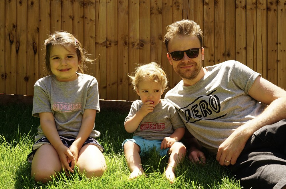 THESE HERO + SIDEKICK T-SHIRTS ARE AVAILABLE IN THE MY 1ST YEARS' FATHER'S DAY RANGE
