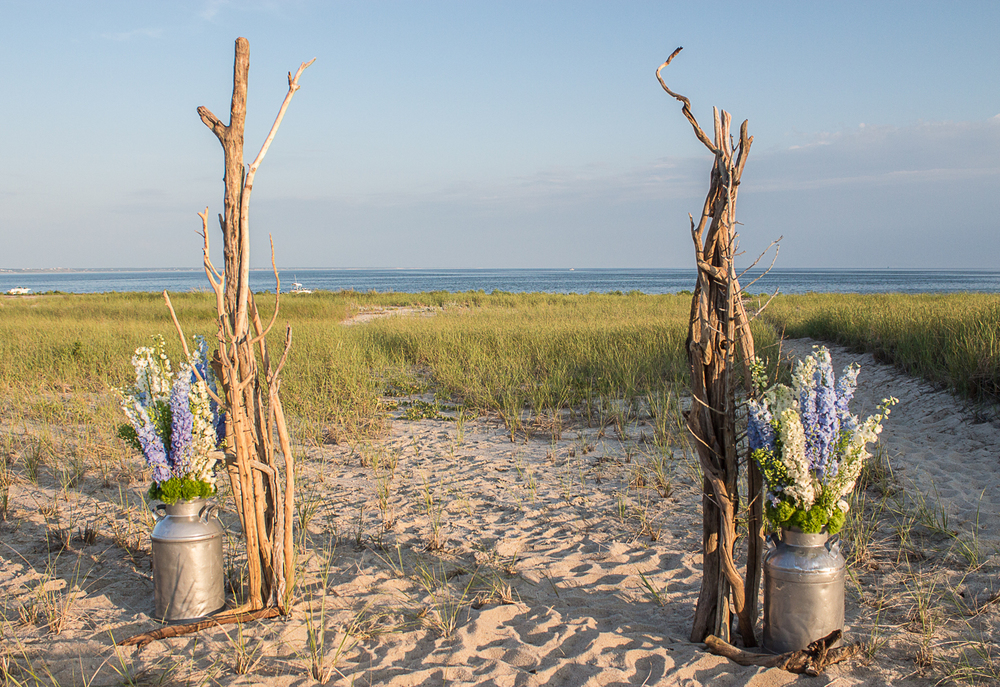 Driftwood Wedding Arbor by Pebble and Branch Floral Design