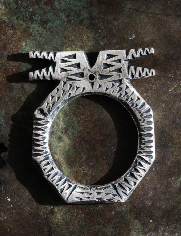Hand-carved Sterling Ring by Celie Fago