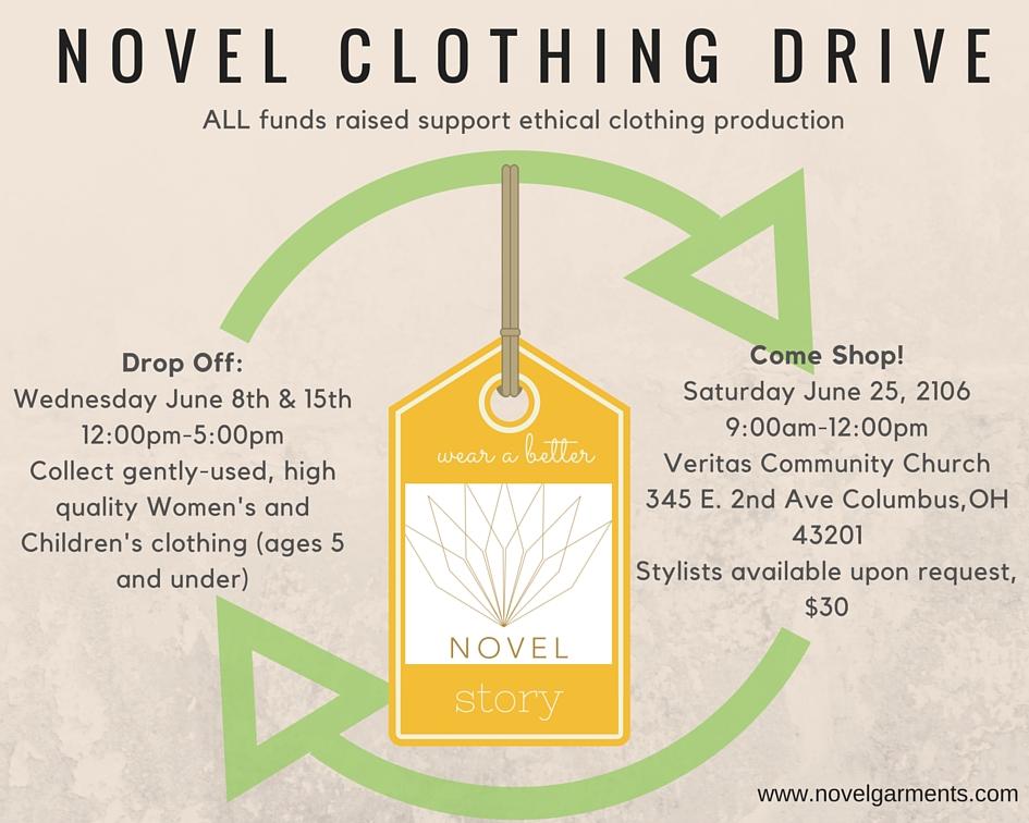 Novel Clothing Drive
