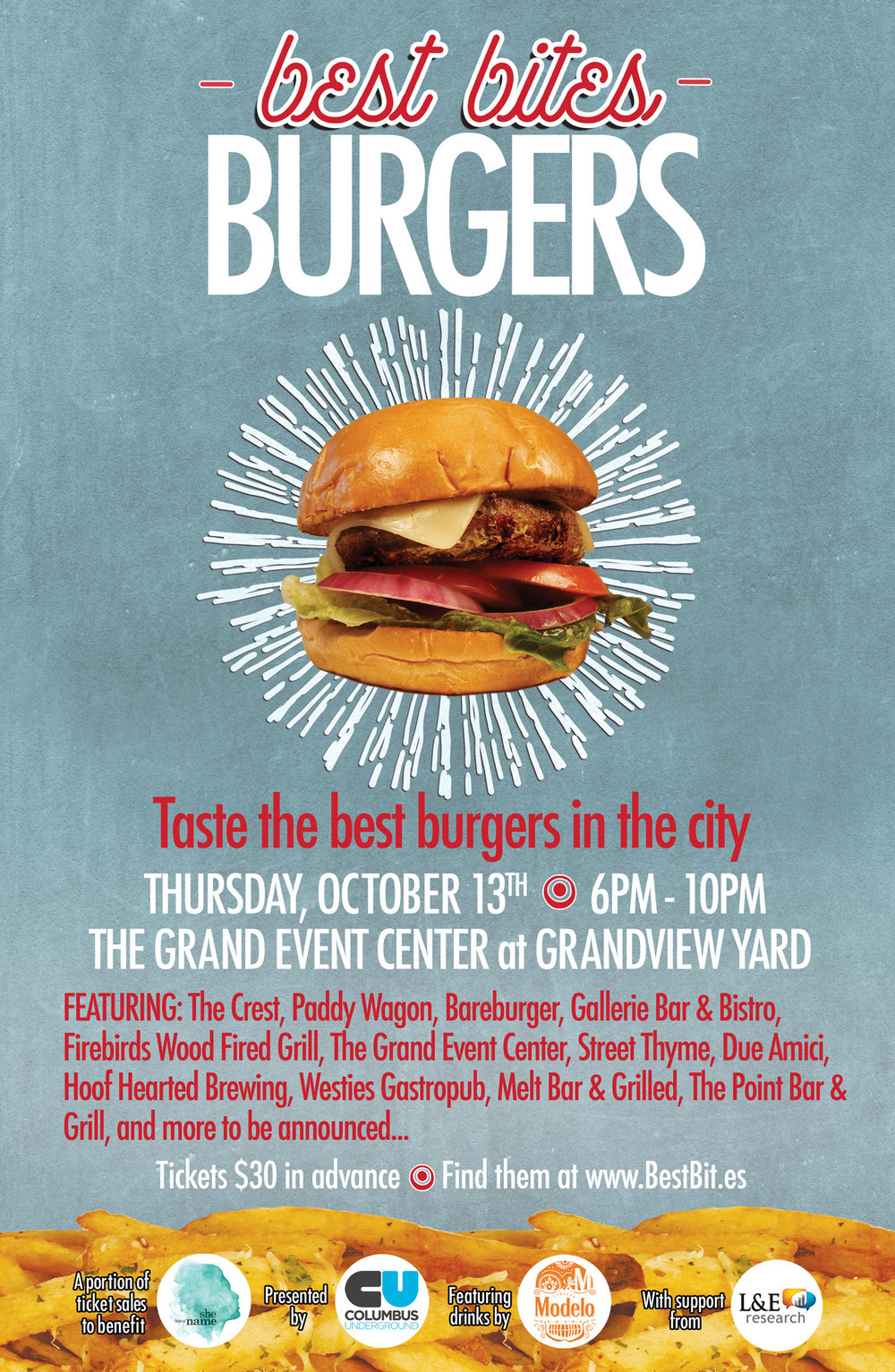 Best Bites Burgers Flyer