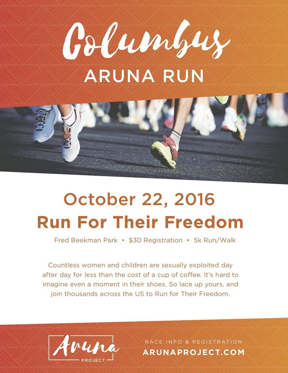Aruna 5K Promotional Poster