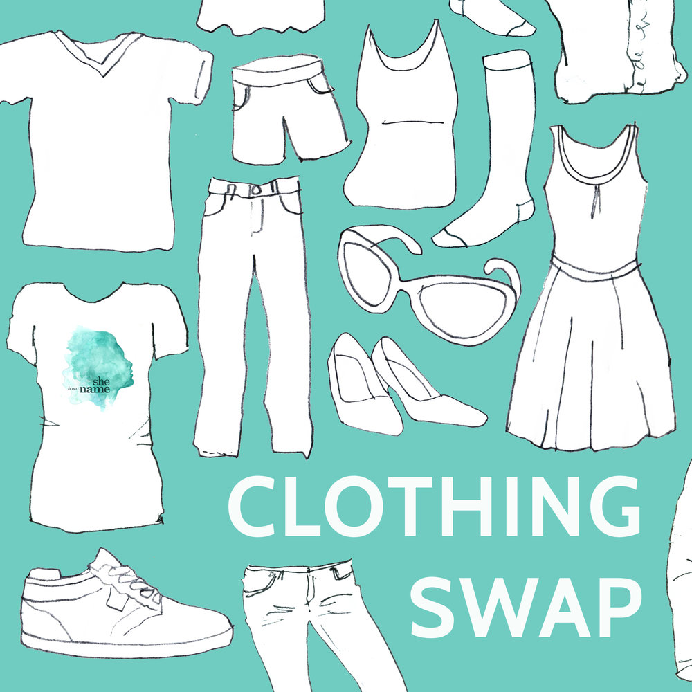 She Has A Name's Clothing Swap Logo