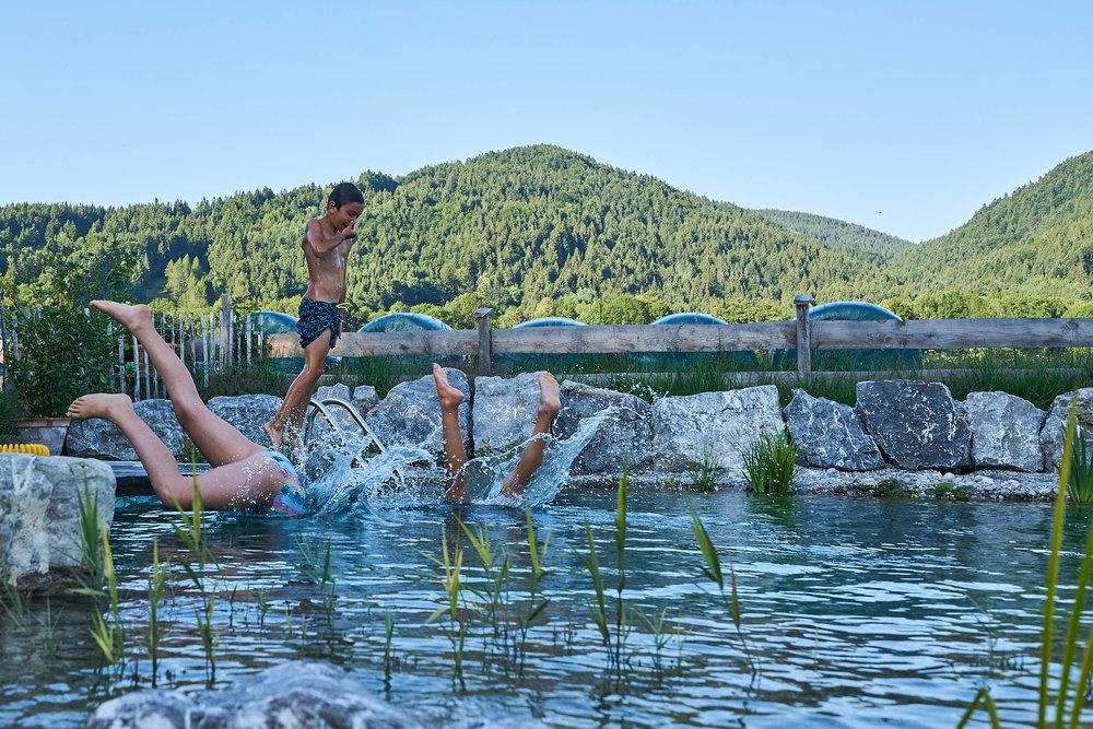 Das Element Wasser im Garten  SCHWIMMTEICHE UND FRÖHLICHER BADESPASS   Tauche ein