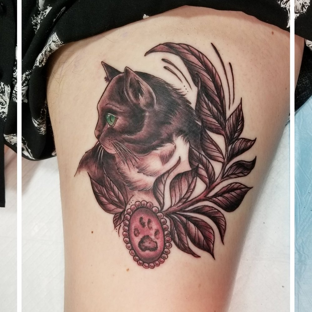 Kitty Memorial Tattoo