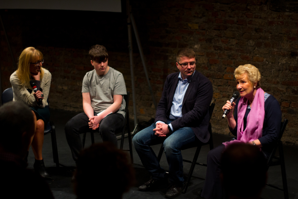 Fellows Krystian Fikert and Mary Nally, with Future Voices student Peter Moans, at the Ashoka Ireland & NYF Dublin event, 'YES Inclusion' on 30th Dec 2015