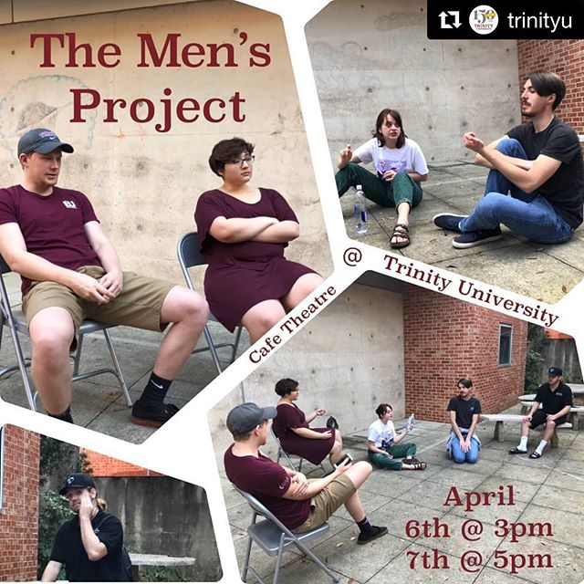 "Thank you Trinity for posting about our upcoming performances! #tumensproject  #Repost @trinityu with @get_repost ・・・ ""The Men's Project,"" a Forum Theatre performance, tackles the pressures that masculinity standards have on young men as they enter the formative college years. Jake Pursell '17, his theatre company Tuppence Entertainment, and current Trinity students will perform on Saturday, April 6 at 3 pm and Sunday, April 7 at 5 pm. The show includes a play to watch, opportunities to participate, intervention practice, and ultimately a conversation that everyone needs to have. Performances are free and held in the Cafe Theatre in the basement of the Ruth Taylor Theatre Building. @tuppenceentertainment"