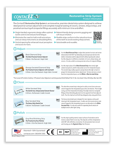 Restorative Strip System Info