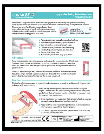 Hygienist Strip Info