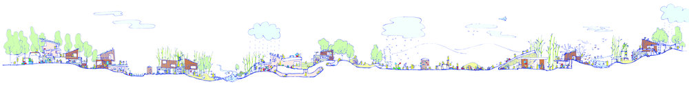 A concept sketch produced by architectural design partner  OLI Architecture . OLI is working closely with Ms. Cheng to develop an architectural language of True Play that will define a 300,000 ft2 Anji Play research center, kindergarten and museum set to be completed in 2020 in Ms. Cheng's hometown of Zhangwu Township, Anji County. Click  here  for a zoomable version of this image.