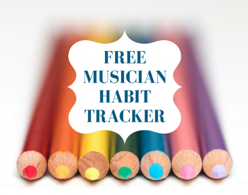 Musician Habit Tracker - This worksheet helps you decide on, track,and add habits to your life in a sustainable way -support your whole creative self!