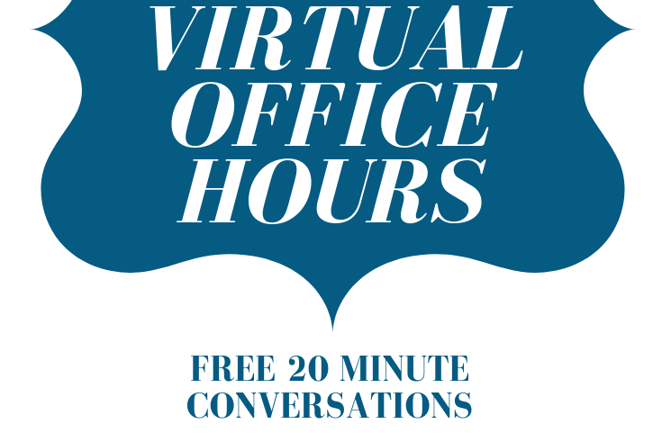 Virtual Office Hours - Do you need some new perspectives on your life as a creative person? I can help!Click here to see some of the issues I've helped people tackle.