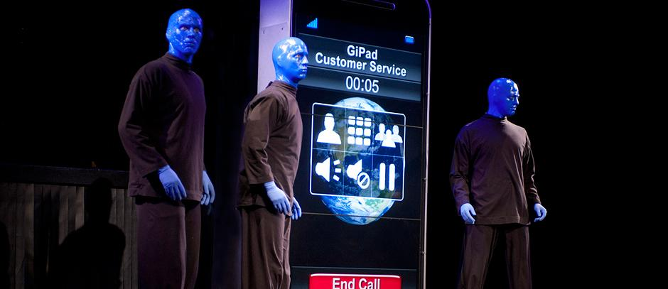 photo from Blue Man Group NY website