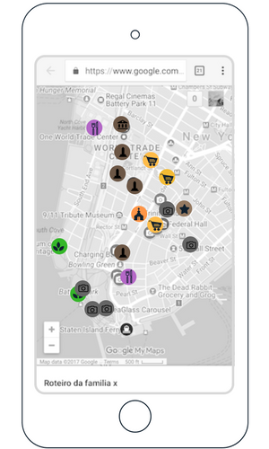 d) ao selecionar um dia de roteiro, você verá  todos os passeios do dia , classificados por  cores e icones .Veja os itens na ordem que está na lista (imagem 3).